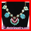 Colorful rhinestone crystal flower Statement collar Necklaces