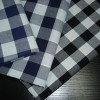 Polyester and cotton blended checks fabric