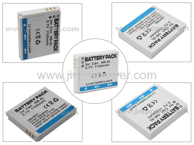 NB-6L rechargeable li-ion digital camera battery pack compatible with Canon PowerShot S90/ SD980/ D10