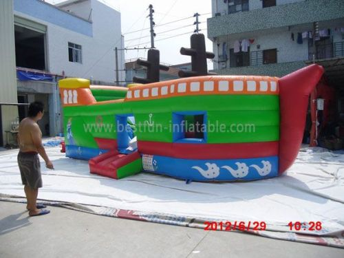 Blow Up Inflatables Pirate Ship