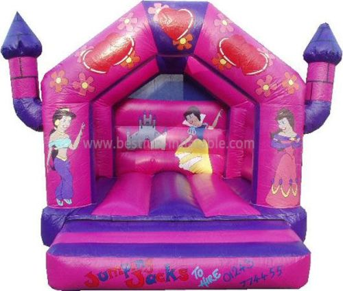 Pink Inflatable Jumping Castle Bouncer For Children