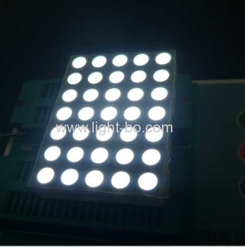 1.543mm pure white 5 x 7 dot matrix led display,Widely used for lift position indicators