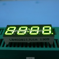 "4-Digit 7mm (0.28"") Anode Green 7- Segment LED Display, 30.2 x 11 x 6 mm"