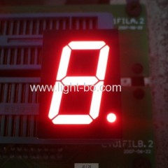 Super bright red 1-digit 0.8-inch common anode 7 segment led display for Elevator Position Indicator