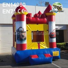 Red Inflatable Cars Bouncer With Website
