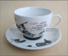 Hot sale porcelain cup and saucer set for coffee taste