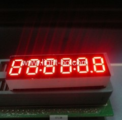 "Common Anode Super bright red 0.36"" 6 digit 7 segment clock led display"