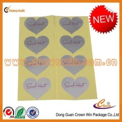 Sell adhesive paper label