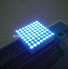 "Ultra Blue 0.8"" 1.9mm 8 x 8 dot matrix led displays for Moving signs, message boards,elevator position indicators"