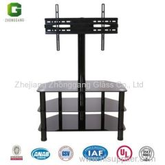 Glass TV Stand with Brackets/Glass and Metal TV Stand/ Glass TV Table