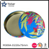 Round shape metal tin box