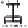 2-layer Glass TV stand/Glass TV Rack with swivel Bracket/Glass TV Table/TV Stand/TV Table