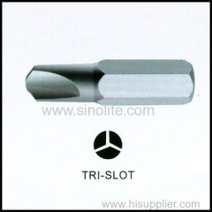 Slotted insert bit power bit