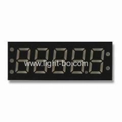 "0.36"" Cathode super red 5-digit 7-segment led display for instrument panels"