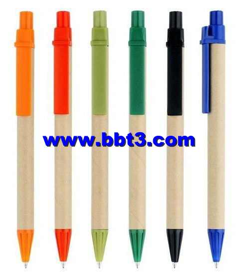 Eco-friendly promotional ballpoint pen with ABS clip