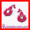 fashionable costume jewellery shourouk flower earrings for women 2013