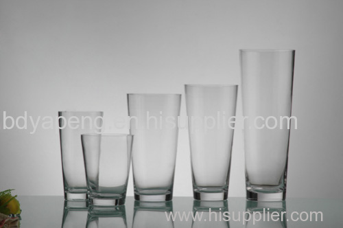 Wholesale for glass vase, tapered vase, round vase, supplier fo glass container