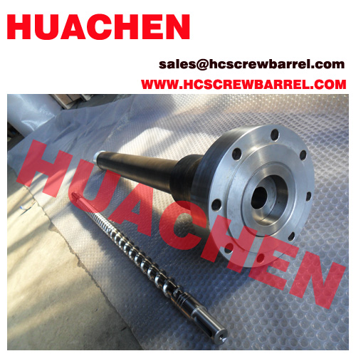 30mm extruder line screw barrel bimetallic nitrided
