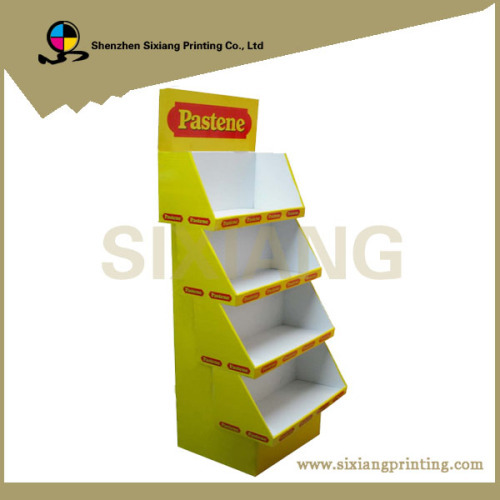 Custom color printing cardboard display shelf