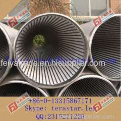 stainless steel slot screen tube / perfect roundness oil well filter screen
