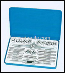 24pcs Inch tap and die set