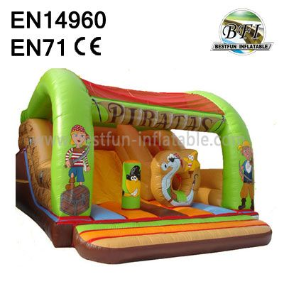 Party Rental Piratas Inflatable Roof Slide