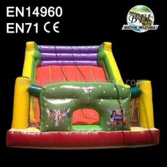 Girl Backyard Exciting Inflatable Water Slide