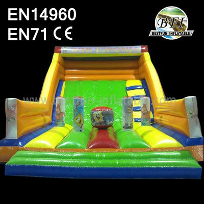 Sponge Bob Inflatable Rental Slide