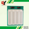 white breadboard green plate