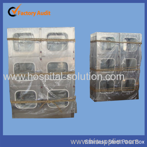 Stainless steel pass box for hospital cleanroom