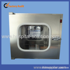 Stainless steel hospital clean room pass box
