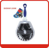 Eco-Friendly Blue+white+black Multi-functional plastic bottle brush