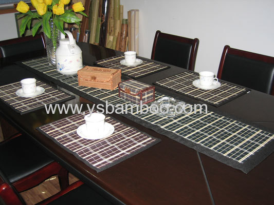 bamboo placemat and table runner