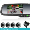 4.3 inch rearview car mirror with parking sensor +auto-dimming+compass