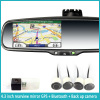 4.3 inch gps navigation mirror with Android system / wifi