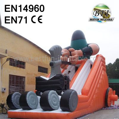 Custom Double Lanes Inflatable Woodcutter Slide