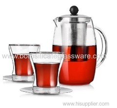 Insulated Mouth Blown Glass Teaware Set