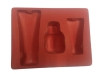 beautiful red color PS flocking tray for cosmetic