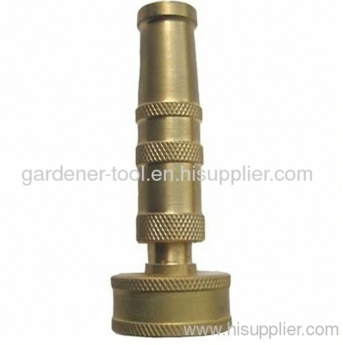 3Brass adjustable nozzle with 3/4female thread inlet connector