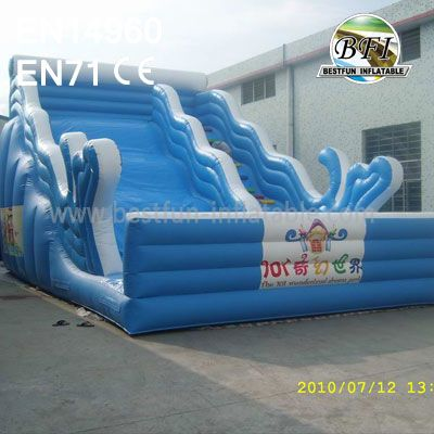 Inflatable Big Wave Water Slide