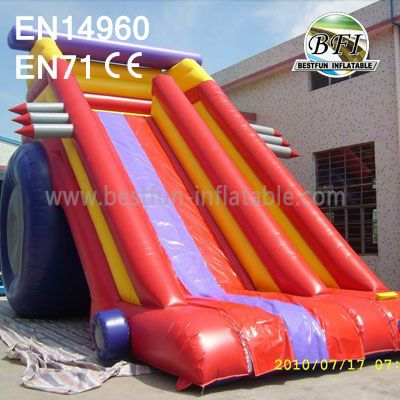 Russia Red Inflatable Slide