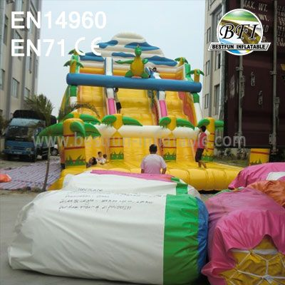 Giant Double Lanes Inflatable Dinosaur Slide Sale