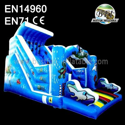 Blue Sea Wrold Inflatable Water Slide
