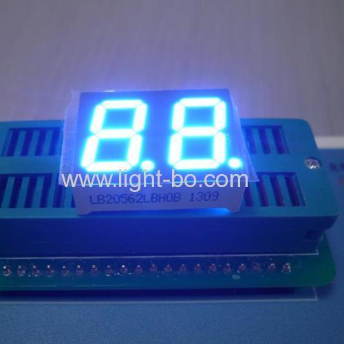 "Ultra Blue Common Cathode Dual-Digit 0.56"" 7-Segment LED Display"