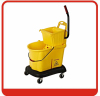 Passed ISO9001:2000 Reinforced PP mop cleaning bucket wringer trolley