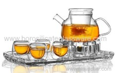Nice And Useful Hand Blown Borosilicate Glass Oolong Teas Teaware Set