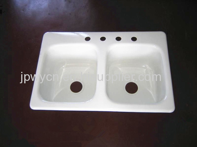 Cast iron enameled sink