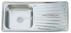 MS-10050 Topmount Single Bowl with Drainboard Stainless Steel Kitchen Sink