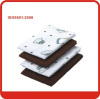 White/brown 41*48cm magic microfiber cloth with Anti-bacterial treatment