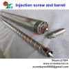 Injection molding screw and barrel